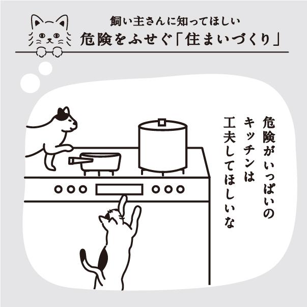 猫にとってキッチンは危険がいっぱい