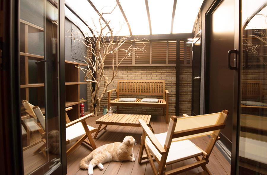 京都嵯峨の猫と暮らすモデルハウス サンルーム