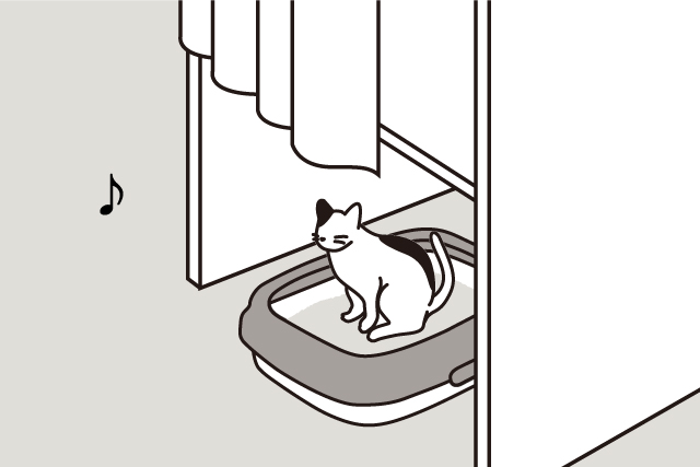 猫トイレは、快適に!画像